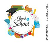 education supplies and back to... | Shutterstock .eps vector #1225696468