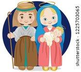 Holy Family With Mary Joseph...