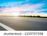 Sky Highway Asphalt Road And...