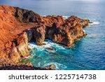 rocks on north west coast of... | Shutterstock . vector #1225714738