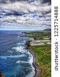 north west coast of tenerife ... | Shutterstock . vector #1225714888