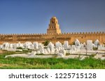 ancient muslim cemetery near... | Shutterstock . vector #1225715128