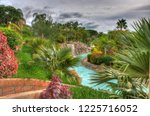 river in the park with palms ... | Shutterstock . vector #1225716052