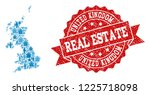 real estate combination of blue ... | Shutterstock .eps vector #1225718098