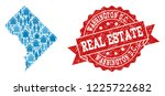 real estate collage of blue... | Shutterstock .eps vector #1225722682