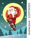 happy santa claus ride... | Shutterstock .eps vector #1225732525