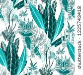 creative seamless pattern with... | Shutterstock . vector #1225743418