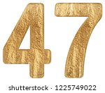 numeral 47  forty seven ...   Shutterstock . vector #1225749022