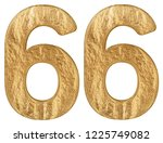 numeral 66  sixty six  isolated ... | Shutterstock . vector #1225749082