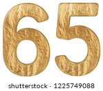 numeral 65  sixty five ... | Shutterstock . vector #1225749088