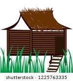 sweet hut in the village vector | Shutterstock .eps vector #1225763335