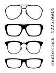 set of classic vector glasses ... | Shutterstock .eps vector #122576605