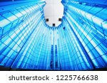 empty capsule for phototherapy... | Shutterstock . vector #1225766638