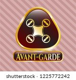 gold shiny badge with air... | Shutterstock .eps vector #1225772242