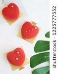 heart shaped mousse cake | Shutterstock . vector #1225777552