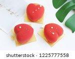 heart shaped mousse cake | Shutterstock . vector #1225777558