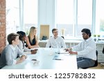 boss of the company has... | Shutterstock . vector #1225782832