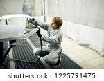 mechanic worker repairman... | Shutterstock . vector #1225791475