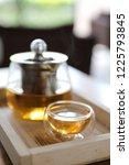 hot teacup with teapot beverage ... | Shutterstock . vector #1225793845