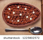 easter egg eating with spoon | Shutterstock . vector #1225802572
