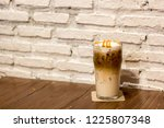 ice caramel macchiato in the... | Shutterstock . vector #1225807348