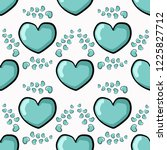seamless pattern  cute heart.... | Shutterstock .eps vector #1225827712