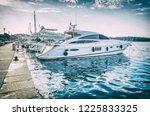 yachts in port  porec  croatia. ... | Shutterstock . vector #1225833325