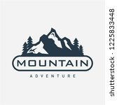 mountain logo template | Shutterstock .eps vector #1225833448