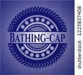 bathing cap emblem with denim...   Shutterstock .eps vector #1225837408