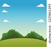 landscape cartoon scenery | Shutterstock .eps vector #1225841395