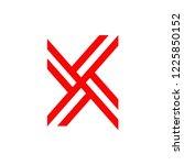 x letter logo design vector...   Shutterstock .eps vector #1225850152