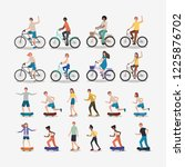 group of people practicing... | Shutterstock .eps vector #1225876702