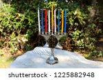 Menorah for hanukkah in the...