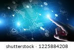 mixed media. business... | Shutterstock . vector #1225884208