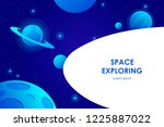 blue horizontal space... | Shutterstock .eps vector #1225887022