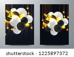 set black cover design vector... | Shutterstock .eps vector #1225897372