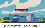 modern supermarket building.... | Shutterstock .eps vector #1225898602