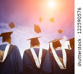 high school graduation hats high | Shutterstock . vector #122590576