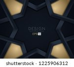 layers of black cut paper....   Shutterstock .eps vector #1225906312