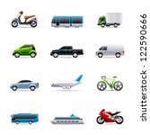 transportation icon series in... | Shutterstock .eps vector #122590666