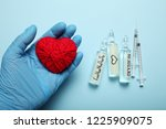 ampoules with oxytocin  love... | Shutterstock . vector #1225909075
