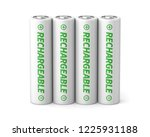3d rendered four rechargeable... | Shutterstock . vector #1225931188