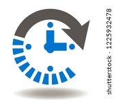 clock arrow icon vector. time... | Shutterstock .eps vector #1225932478