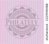 philately pink emblem. retro | Shutterstock .eps vector #1225940488