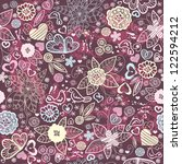 seamless floral pattern with... | Shutterstock .eps vector #122594212