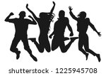 people jump vector silhouette.... | Shutterstock .eps vector #1225945708