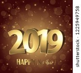 happy new year 2019 greetings...   Shutterstock .eps vector #1225949758