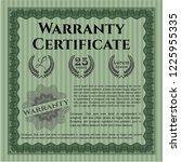 green warranty template.... | Shutterstock .eps vector #1225955335