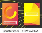set of modern colorful vector... | Shutterstock .eps vector #1225960165