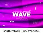3d distorted wave lines....   Shutterstock .eps vector #1225966858